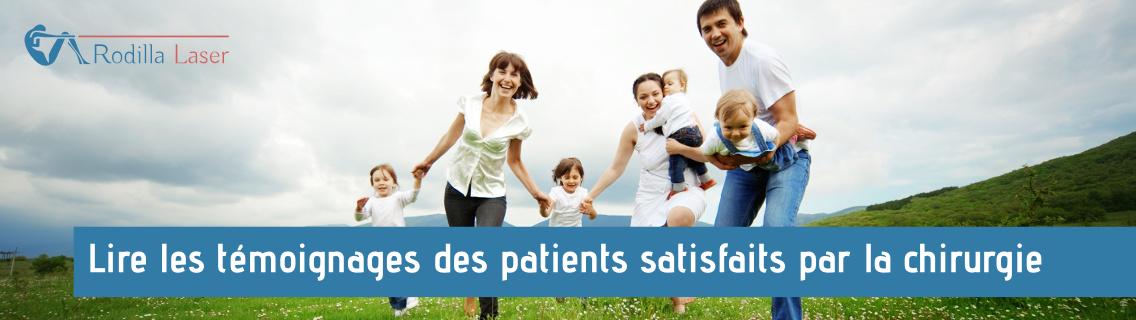 Lea los Testimonios de pacientes satisfechos con la Cirugía laser, Rodilla Láser, con el Doctor Alain Daher, Cirugía de Cadera, Rodilla y Espalda con Láser